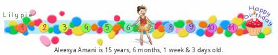 Lilypie Kids Birthday (3mcf)