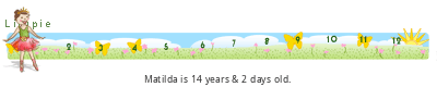 Matilda's 5th birthday ticker