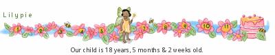 Lilypie Kids Birthday tickers